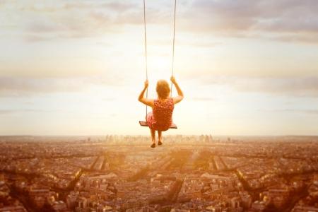 Photo of woman on swing